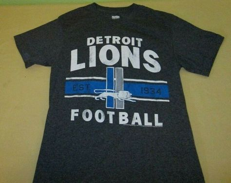 Detroit Lions NFL T Shirt S small gray Junk Food5050 blend
