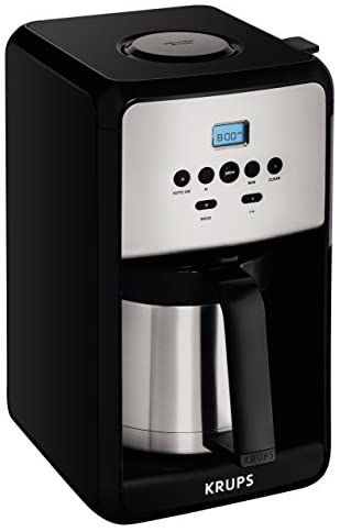 Krups Et351 Coffee Maker Coffee Programmable Maker Thermal Carafe 12 Cup Black In 2020 Coffee Maker Coffee Coffee Grinder