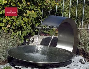 Wasserschale Aus Edelstahl Diy Gartenbrunnen Wasserbecken Garten Diy Wasserbrunnen