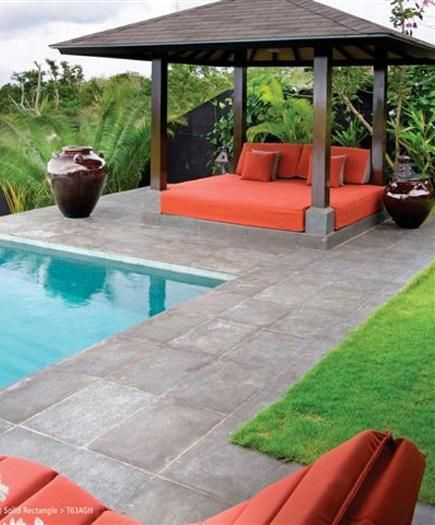 Pool coping ideas - Travertine pool with drain - Ground Trades ...