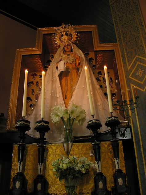 In the beautiful country of the Netherlands glows this majestic and inspiring shrine dedicated to the Virgin Mary at the hermitage of Our Lady of the Gardens.  http://www.livingaltars.com/mary-in-warfhuizen/