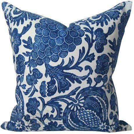 Indigo Batik Floral Decorative Pillow Cover Indigo Batik Floral Decor Pillows Decorative Pillow Covers