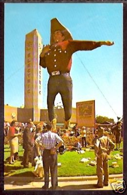 Big Tex at the State Fair of Texas vintage old postcard by coltera, via Flickr