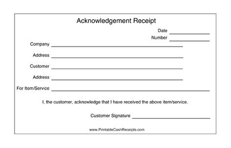 These acknowledgement receipts are basic templates that are great as