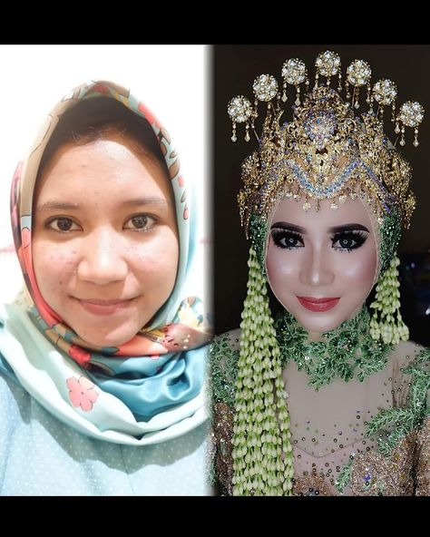 Spesial pengantin,,, sunda siger muslim Make up tanpa cukur alis make up @