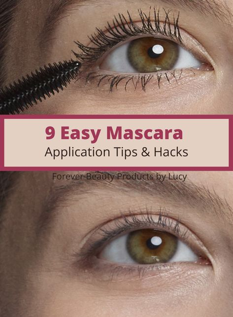 Nine easy beauty hacks for your lashes. See your beautiful eyes stand out even more with simple mascara lengthening tips and hacks. How to grow your eyelashes with a growth serum. Curl eyelashes without an eyelash curler. Apply mascara without clumping, get thick eyelashes using face powder, eyeshadow hack to make lashes look longer and thicker. Find out which tinted mascara suits your eye color. Easy to follow beauty tips. #mascara #beautyhacks #makeuptips #avon #eyemakeup #avonrep #makeup