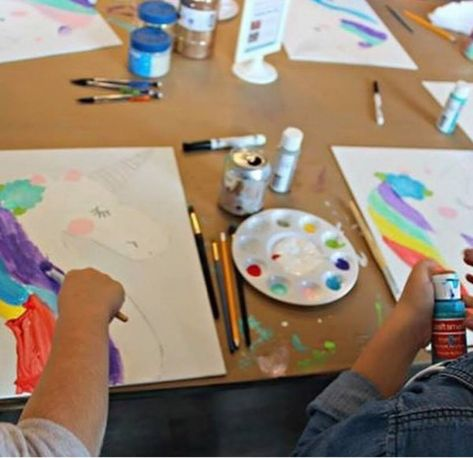 SPARK CREATIVE STUDIO IN MANCHESTER NH Wowee Look At These Artists Paint Their Unicorns We Enjoyed Celebrating With Families And Friends