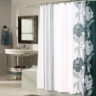 Three Posts Berardi Shower Curtain Wayfair Fabric Shower