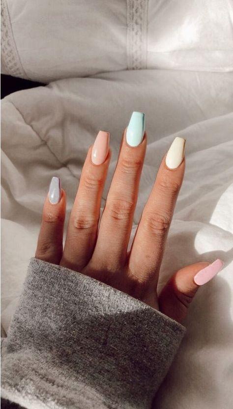 40 Latest Acrylic Nail Designs for Summer 2019 # Acrylic Nail #designs #Newest   Acrylnagel