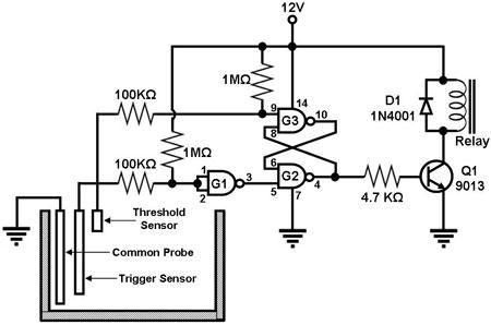 water level sensor circuit - schematic | ET.WLC in 2019 ... on