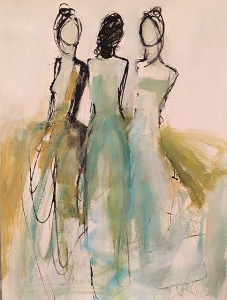 The Three Malerei Abstrakte Kunst Gemalde
