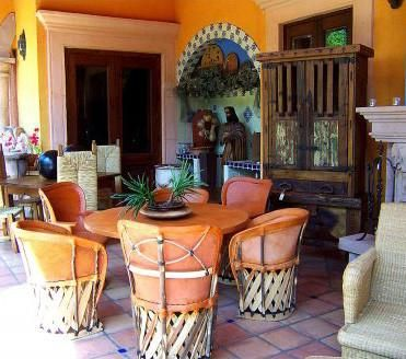 Veranda And Patio Furniture From Mexico In 2020 Mexican Dining