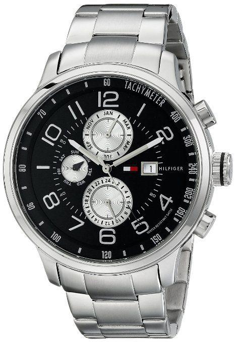 9d3b761c68da Tommy Hilfiger 1790860 Reloj de hombre de acero inoxidable con brazalete de  eslabones