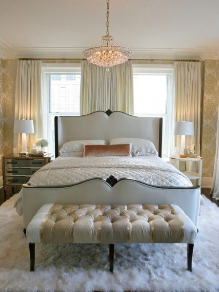 Charming Lovely Bedroom Love The Champagne Color And The Texture In The Tufted Bench  And Rug. | Unique Bedrooms | Pinterest | Champagne Colour, Bedrooms And  Bench