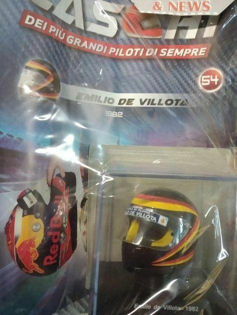 Caschi Dei più grandi piloti di sempre n° 54 Emilio de Villota 1982 Centauria