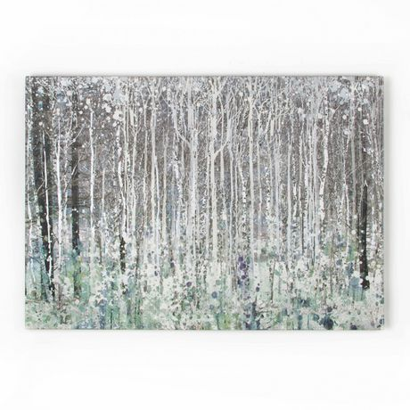 Graham Brown Watercolour Woods Canvas Wall Art Grey 39 In X 28