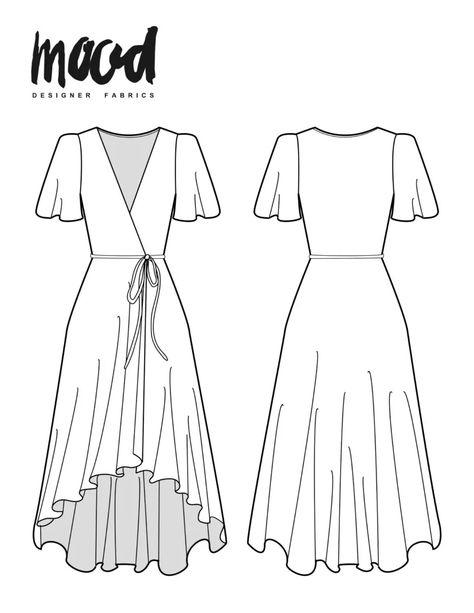 Nyssa Dress Redux - Free Sewing Pattern - Mood Sewciety, Maybe you are a starter sewist looking for some easy sewing projects, or possibly you are only buyi, Beginner Sewing Patterns, Plus Size Sewing Patterns, Skirt Patterns Sewing, Free Sewing, Clothing Patterns, Wedding Dress Sewing Patterns, Beginners Sewing, Patchwork Patterns, Free Pattern