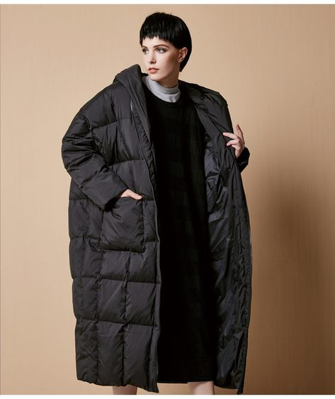 cappotti lunghi in piuma da donna