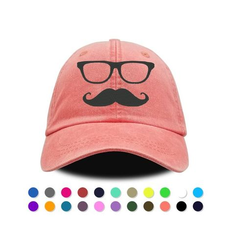 Mustache Embroidery Embroidered Adjustable Hat Baseball Cap