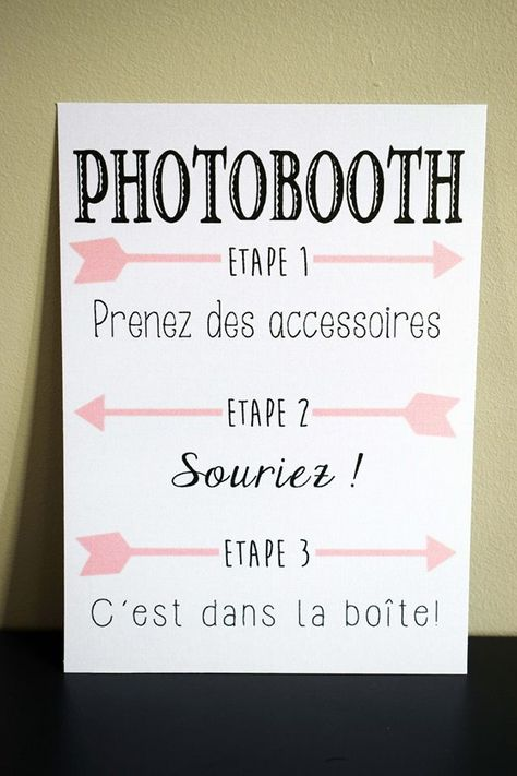 Affiche photobooth fléché
