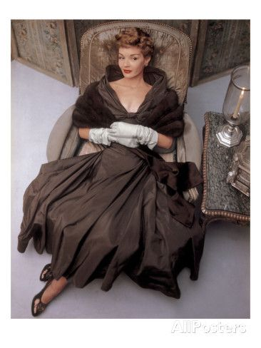 Vogue - October 1948 Premium Photographic Print by John Rawlings at AllPosters.com