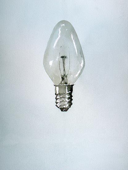Lightbulb Watercolor by Robert Spellman