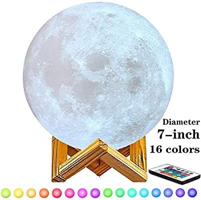 Amazon Com 7 Inch Moon Lamp 6inch 8inch 9inch 10inch And11inch Diameter Moon Light Lamps Are Available 3d Printing Moo In 2020 Moon Light Lamp Color Home Improvement