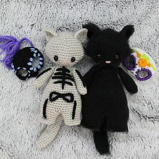 Free Crochet Amigurumi Halloween Black Cat Pattern | 320x320