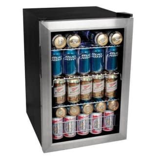 View The Edgestar Bwc90 17 Inch Wide 84 Can Beverage Cooler With Extreme Cool At Compactappliance Com Beverage Cooler Beverage Fridge Beer Fridge