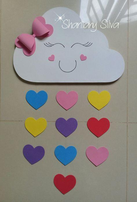 Núvem painel chuva de amor