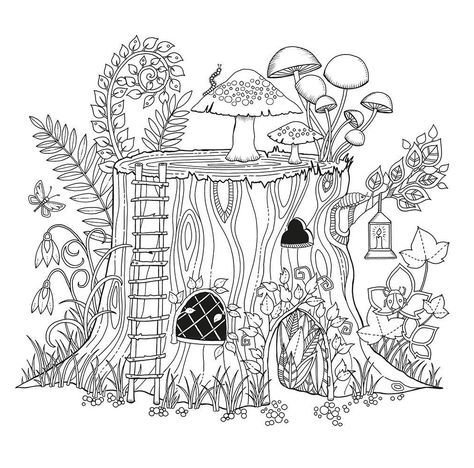 Embroidery Tree Forest 31 New Ideas Cool Coloring Pages Forest Coloring Book Enchanted Forest Coloring Book
