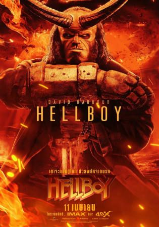 Hellboy 2019 Hc Hdrip 300mb Hindi Dual Audio 480p Movie Posters Hellboy Movie Hellboy Characters