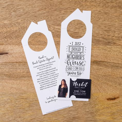 I Just Sold Your Neighbor's House | Double Sided Real Estate Door Hanger | 31-DH002 - LEMON