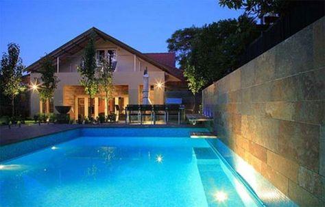 65 desain rumah mewah 2 lantai dengan kolam renang