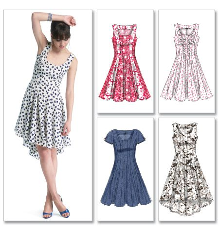 McCall's M40 Semifitted And Flared Dresses Have Hemline Best Princess Seam Dress Pattern