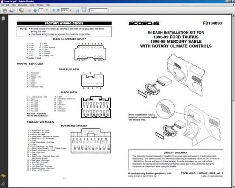 1997 Ford Taurus Mercury Sable Electrical Troubleshooting