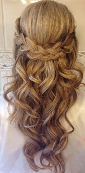 20 Amazing Half Up Half Down Wedding Hairstyle Ideas Oh Best Day Ever Long Hair Styles Braids For Long Hair Wedding Hair Inspiration