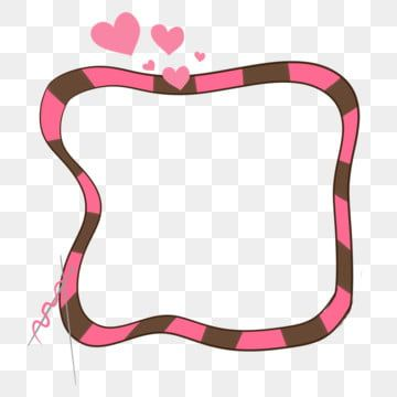 Pink Heart Shape Romantic Love Frame Illustration Love Border Striped Border Png Transparent Clipart Image And Psd File For Free Download Love Frames Pink Flowers Background Heart Frame