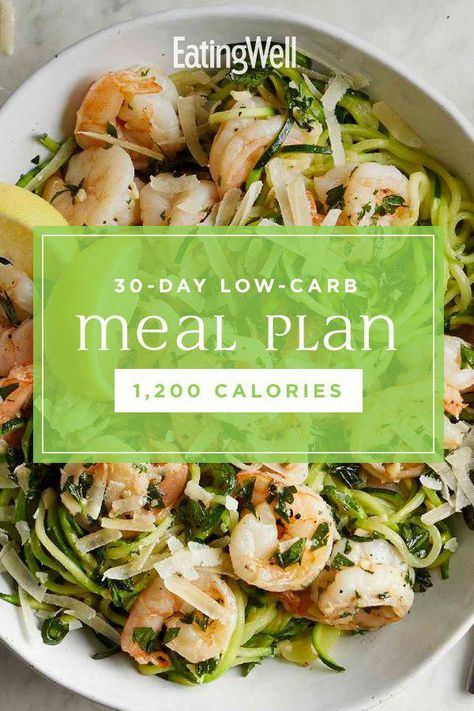 In this 30-day low-carb diet plan, we show you what a healthy low-carb diet for weight loss looks like, with a full month of delicious low-carb breakfast, lunch, dinner and snack ideas. Couple this healthy meal plan with regular exercise and you're on track to lose a healthy 1 to 2 pounds per week. #mealplan #mealprep #healthymealplans #mealplanning #howtomealplan #mealplanningguide #mealplanideas #recipe #eatingwell #healthy #TheBestDietPlanToLoseWeight
