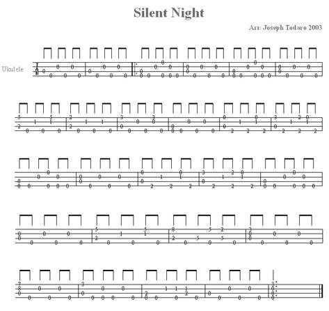 Silent Night For Ukulele Ukulele Silent Night Ukulele Tabs