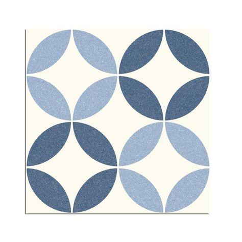 Arte Nador Blue 9 3 4 Inch X 9 3 4 Inch Porcelain Floor Wall