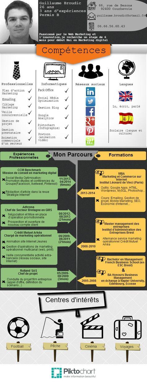 Cv Sous Forme D Infographie