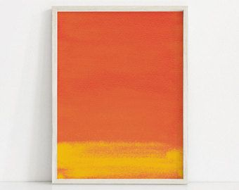 Dark Orange Print Yellow And Orange Painting Red Orange Art Print Abstract Orange Wall Art Abstract A Colorful Wall Art Orange Wall Art Modern Art Abstract