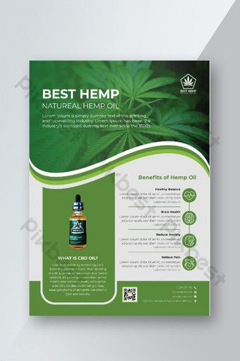 Green Hemp Product Sale Flyer Design Template or Cannabis Leaflet Template | AI Free Download - Pikbest