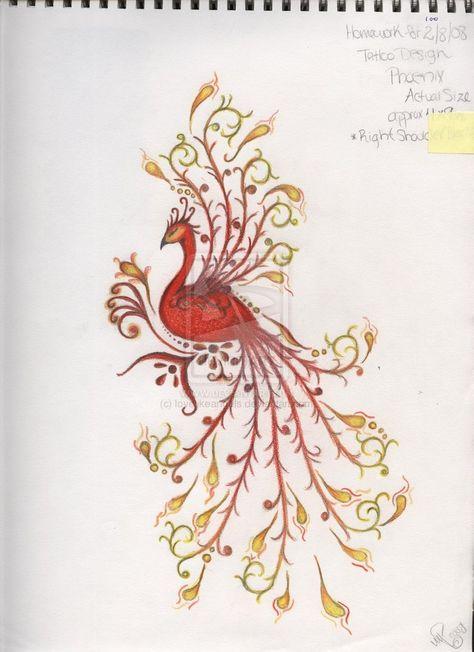 pinterest phoenix tattoos | ... peacock phoenix tattoos tagged as phoenix tattoo by lovelikeangels jpg