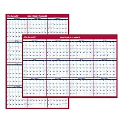 At A Glance Jumbo Erasable Reversible Yearly Wall Planner 32 X 48 January To December 2020 Aagpm32628 Wall Calendar Wall Planner Calendar