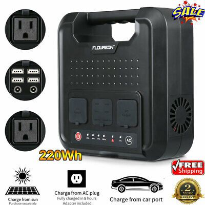 Advertisement 220wh Portable Solar Generator Power Station With Inverter Outputs Ac 120v 4 Usb In 2020 Portable Solar Generator Solar Generator Solar Panel Charger
