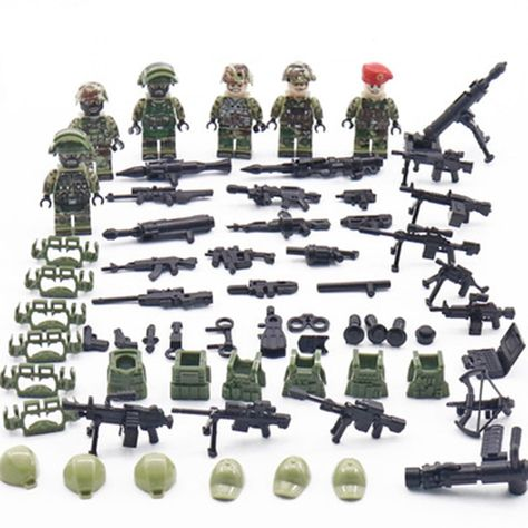 Military Helicopter Special Forces War Building Blocks Bricks Models Figure Toys