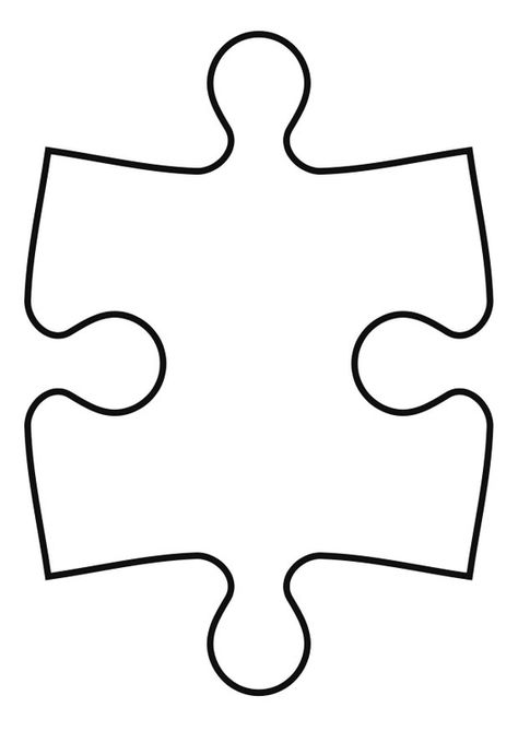 Kleurplaat puzzelstuk - Afb 27119.