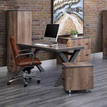 8827604 Office Set Metal Office Desk Loft Style
